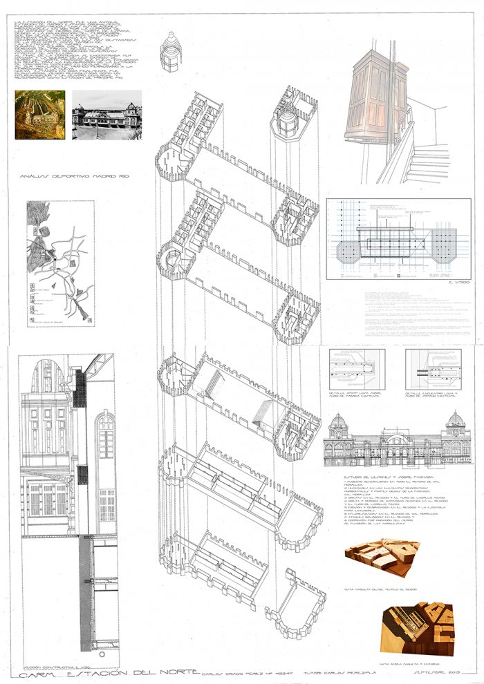 This is the last board of a series that we need to present to get our architectural degree. In this Resume Board of my Degree Final Project, I summarize the idea, the construction, the structure and some 3D views of the project. The train station The North… Read more