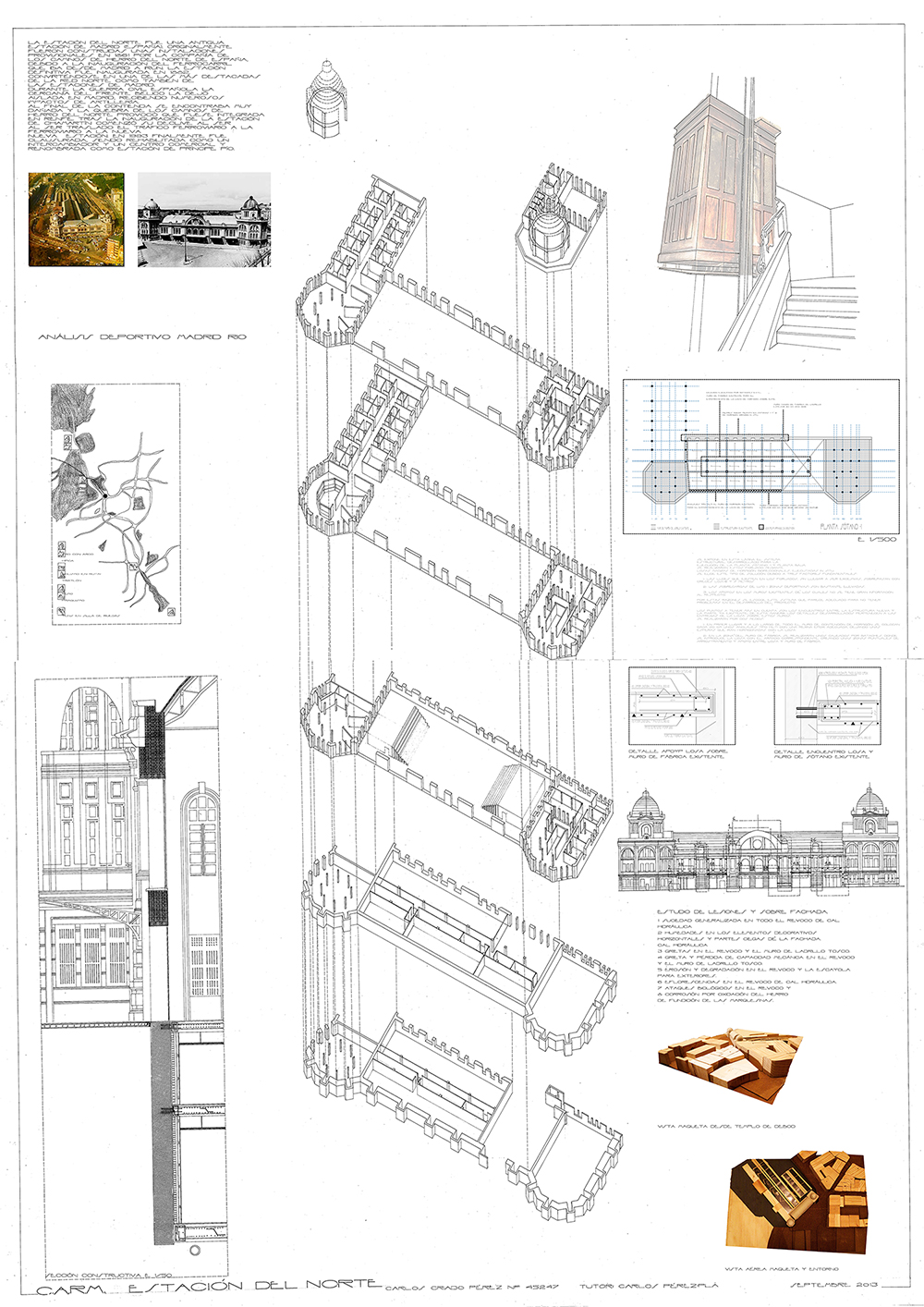 This is the last board of a series that we need to present to get our architectural degree. In this Resume Board of my Degree Final Project, I summarize the idea, the construction, the structure and some 3D views of the project.